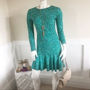 PRETTY MICHAEL KORS GREEN FLIP DRESS SZ S